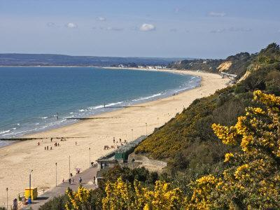West Beach and Cliffs, Bournemouth, Poole Bay, Dorset, England, United Kingdom, Europe