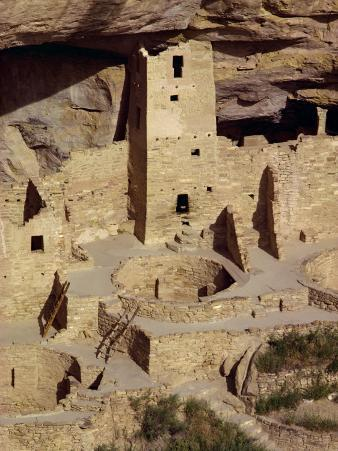 Cliff Palace Dating from Between 1200 and 1300 Ad at Mesa Verde, Colorado, USA