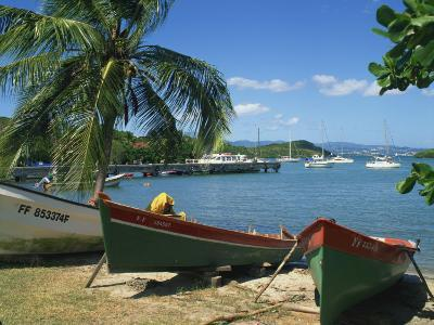 Fishing Boats Pulled Up onto the Beach at Trois Ilets Harbour, Martinique, West Indies