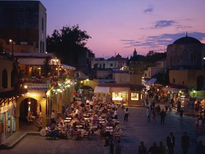 Sandriavani Square in Rhodes Old Town, Rhodes, Dodecanese, Greek Islands, Greece