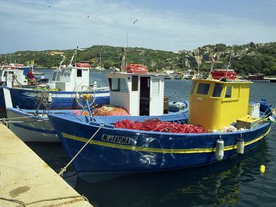 Fishing Boats in Port at Santa Teresa Di Gallura on the Island of Sardinia, Italy, Mediterranean