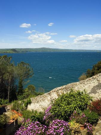 Lake of Bolsena, View from Capodimonte, Viterbo, Lazio, Italy, Europe