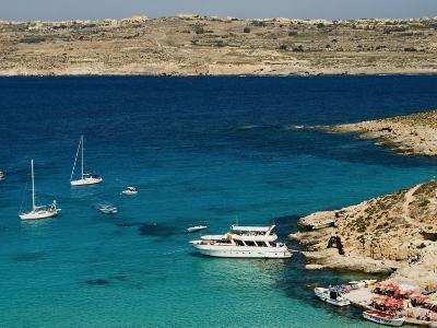 Aerial View of Blue Lagoon, Comino Island, Malta, Mediterranean, Europe