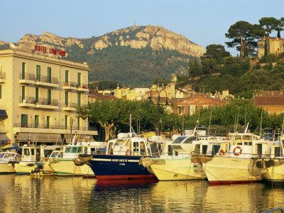 View across Harbour in the Evening, Cassis, Bouches-Du-Rhone, Cote D'Azur, Provence, France