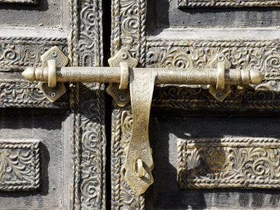 Ancient Door in the Souks, Marrakesh, Morocco, North Africa, Africa