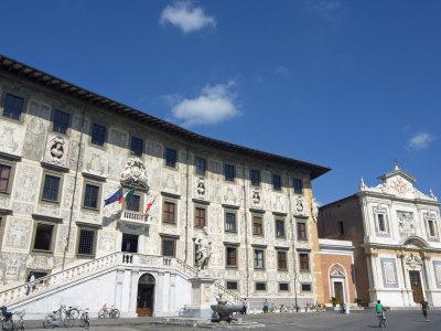 Piazza Dei Cavalieri, Scuola Normale University, Pisa, Tuscany, Italy, Europe