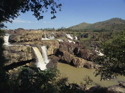 Landscape View of the Lien Khuong Waterfall and Rocks at Dalat, Vietnam, Indochina, Southeast Asia