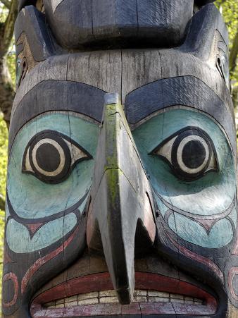 Tlingit Totem, Pioneer Square, Seattle, Washington State, United States of America, North America