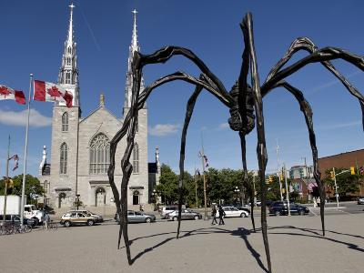 Maman Sculpture, in Front of the Cathedral and Basilica of Notre Dame, Ottawa, Ontario, Canada