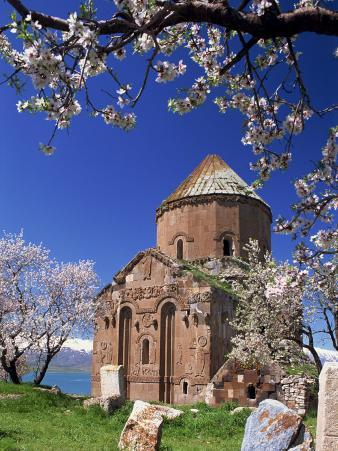 Armenian Church of the Holy Cross on Akdamar Island in Lake Van, Anatolia, Eastern Turkey Minor