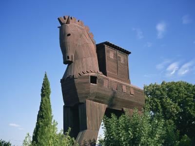 Exterior of the Replica Trojan Horse, Troy, Anatolia, Turkey Minor