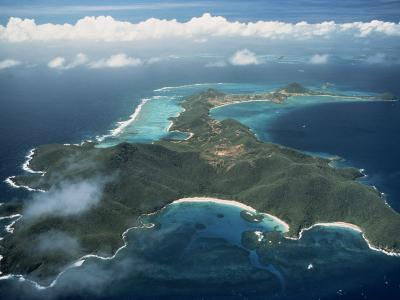 Aerial View over Tropical Island, Tobago, West Indies, Caribbean, Central America