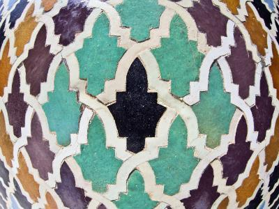 Tiled Mosaic Inside Bou Inania Medersa, Fez, Morocco, North Africa, Africa