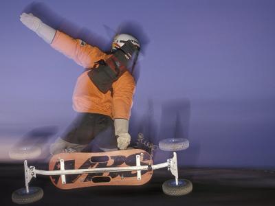 Mountain Boarder in Action, Colorado Springs, Colorado, USA