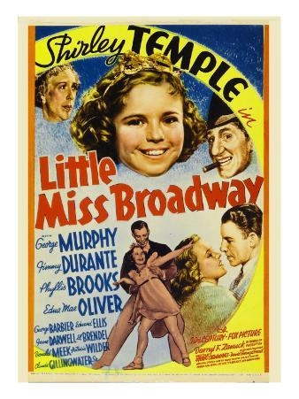 Little Miss Broadway, Edna May Oliver, Shirley Temple, Jimmy Durante, 1938