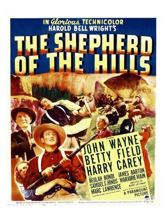 The Shepherd of the Hills, Harry Carey, Betty Field, John Wayne on Window Card, 1941