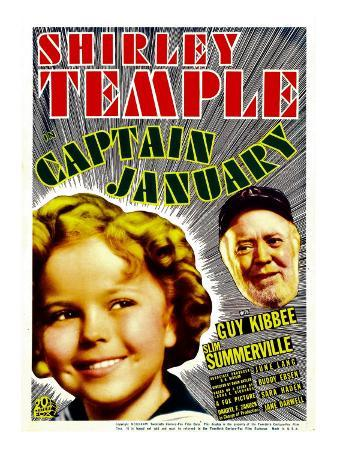 Captain January, Shirley Temple, Guy Kibbee on Midget Window Card, 1936