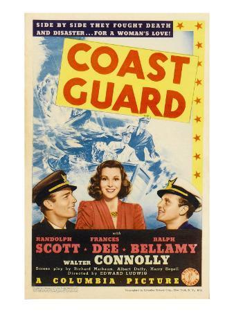 Coast Guard, Randolph Scott, Frances Dee, Ralph Bellamy on Midget Window Card, 1939