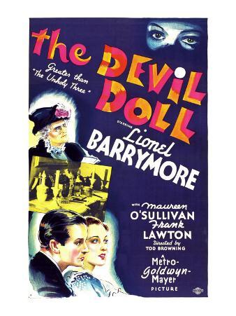 The Devil Doll, Lionel Barrymore (In Drag), Frank Lawton, Maureen O'sullivan, 1936