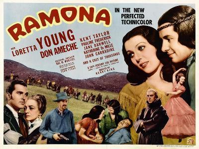 Ramona, Kent Taylor, Pauline Frederick, John Carradine, 1936