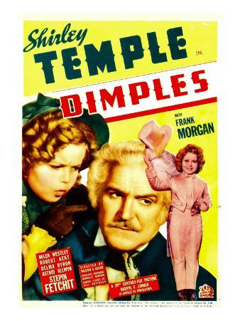 Dimples, Shirley Temple, Frank Morgan, Shirley Temple on Midget Window Card, 1936