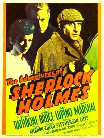 The Adventures of Sherlock Holmes, Ida Lupino, Alan Marshal, Basil Rathbone, 1939