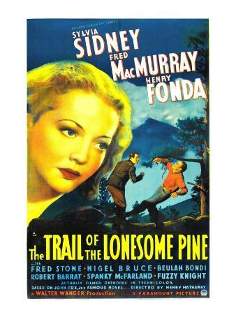 The Trail of the Lonesome Pine, Sylvia Sidney, Fred Macmurray, Henry Fonda, 1936