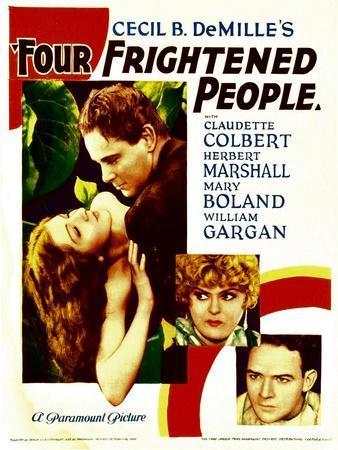 Four Frightened People, Claudette Colbert, Herbert Marshall, 1934