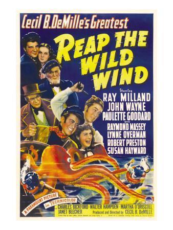 Reap the Wild Wind, Ray Milland, Paulette Goddard, 1942