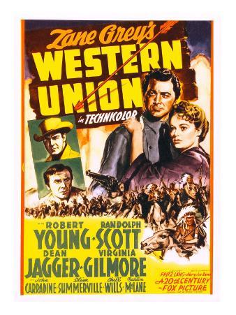 Western Union, Randolph Scott, Dean Jagger, Robert Young, Virginia Gilmore, 1941