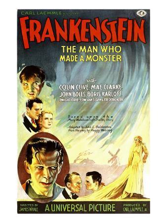 Frankenstein, Dwight Frye, John Boles, Mae Clarke, Boris Karloff, Edward Van Sloan, 1931