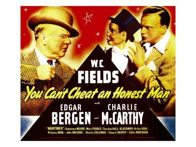 You Can'T Cheat an Honest Man, W.C. Fields, Charlie Mccarthy, Edgar Bergen on Window Card, 1939