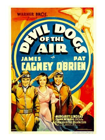 Devil Dogs of the Air, James Cagney, Margaret Lindsay, Pat O'Brien on Midget Window Card, 1935