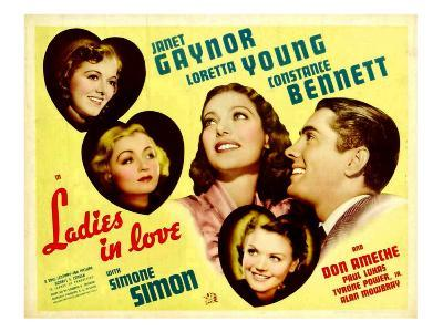 Ladies in Love, Janet Gaynor, Constance Bennett, Loretta Young, Don Ameche, Simone Simon, 1936