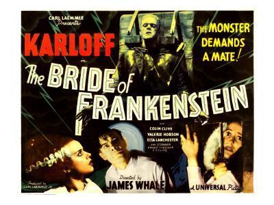 The Bride of Frankenstein, Boris Karloff, Elsa Lanchester, Colin Clive, Valerie Hobson, 1935