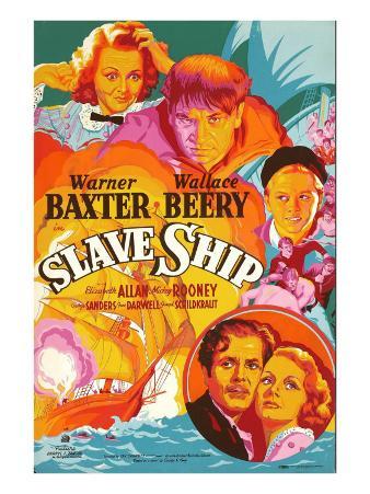 Slave Ship, Jane Darwell, Wallace Beery, Mickey Rooney, Warner Baxter, Elizabeth Allan, 1937