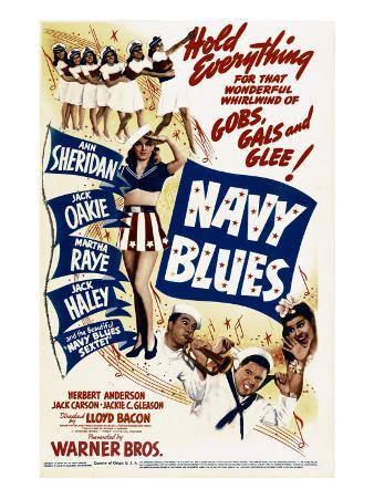 Navy Blues, Ann Sheridan, Jack Haley, Jack Oakie, Martha Raye on Midget Window Card, 1941