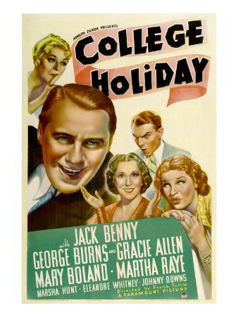 College Holiday, Mary Boland, Jack Benny, Gracie Allen, George Burns, Martha Raye, 1936