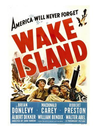Wake Island, Foreground from Left: Macdonald Carey, Brian Donlevy, Robert Preston, 1942