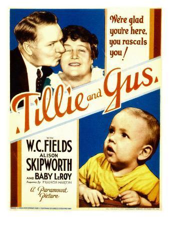 Tillie and Gus, W.C. Fields, Alison Skipworth, Baby Leroy on Midget Window Card, 1933