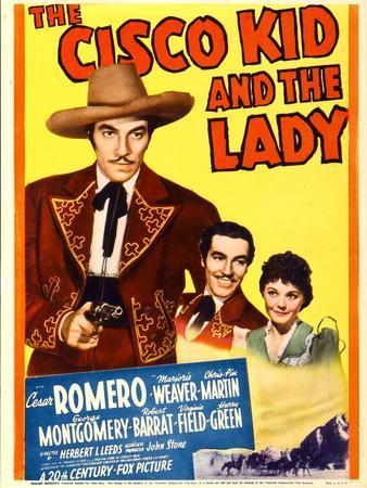 The Cisco Kid and the Lady, Cesar Romero, Marjorie Weaver on Midget Window Card, 1939