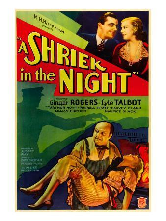 A Shriek in the Night, Lyle Talbot, Ginger Rogers, Harvey Clark, Ginger Rogers, 1933
