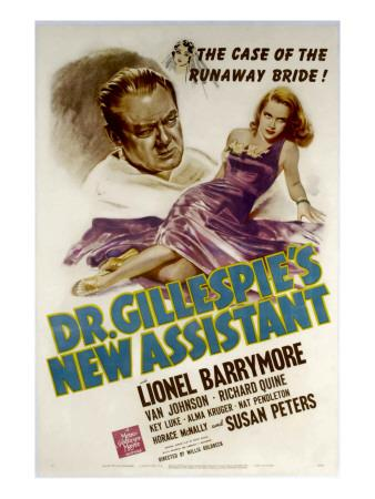 Dr. Gillespie's New Assistant, Lionel Barrymore, Susan Peters, 1942
