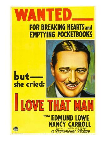 I Love That Man, Edmund Lowe, 1933