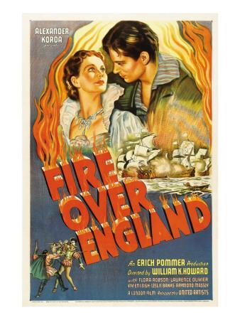 Fire over England, Flora Robson, Laurence Olivier, 1937
