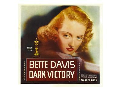 Dark Victory, Bette Davis on Window Card, 1939