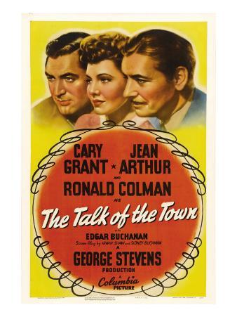 The Talk of the Town, Cary Grant, Jean Arthur, Ronald Colman, 1942