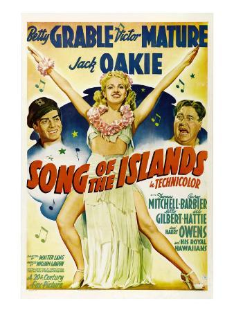 Song of the Islands, Victor Mature, Betty Grable, Jack Oakie, 1942