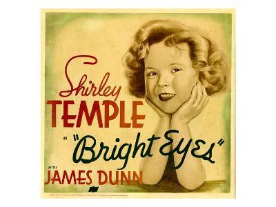 Bright Eyes, Shirley Temple on Jumbo Window Card, 1934