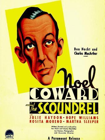 The Scoundrel, Noel Coward on Midget Window Card, 1935